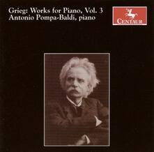 Musica per Pianoforte vol.3 - CD Audio di Edvard Grieg