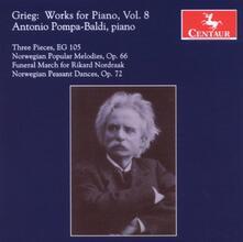 Musica per Pianoforte vol.8 - CD Audio di Edvard Grieg