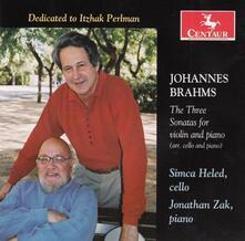 3 Sonate per Violino - CD Audio di Johannes Brahms