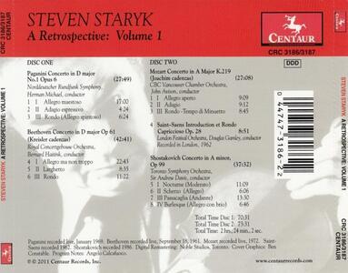 A Retrospective vol.1 - CD Audio di Steven Staryk - 2