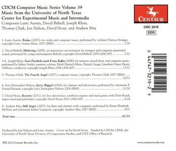 Cdcm Computer Music V. 39 - CD Audio - 2