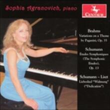Paganini Variations Book - CD Audio di Johannes Brahms,Robert Schumann