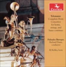 Complete Horn - CD Audio di Georg Philipp Telemann