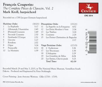 Pièces de Clavecin - CD Audio di François Couperin - 2