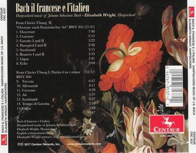 Bach. Il Francese e l'Italien - CD Audio di Johann Sebastian Bach,Elisabeth Wright - 2
