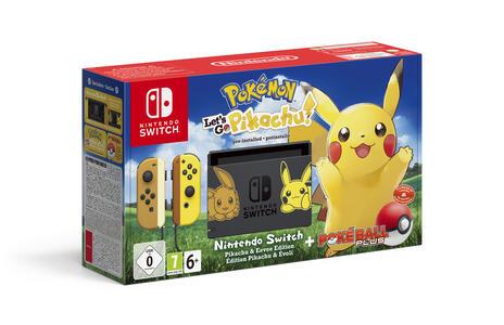 """Nintendo Switch - Let's Go, Pikachu! console da gioco portatile Nero, Giallo 15,8 cm (6.2"""") 32 GB Wi-Fi"""