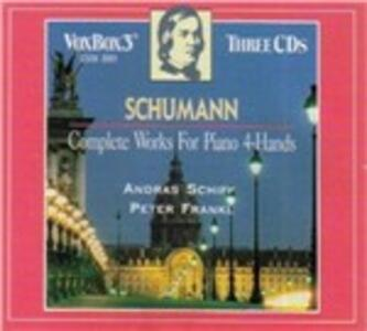 Complete Works for Piano 4 Hands - CD Audio di Robert Schumann