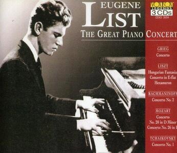 Great Piano Concertos - CD Audio di Eugene List