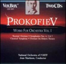 Musica orchestrale vol.1 - CD Audio di Sergej Sergeevic Prokofiev,Jean Martinon,Orchestre National de l'ORTF
