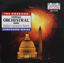 American Orchestral Music - CD Audio