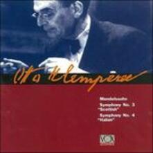 Sinfonia n.3 Op.56 Scozzese in la - CD Audio di Felix Mendelssohn-Bartholdy,Otto Klemperer