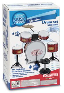 Rock Drummer. Batteria Metallizzata. Bontempi (51 5240)
