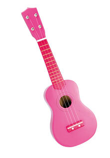 Igirl: Wooden Ukulele With Plectrum And Stickers