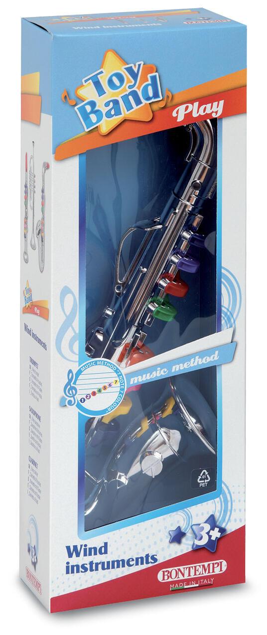Toy Band Play. Sassofono Cromato Grande a 8 Chiavi/Note Colorate. Bontempi (32 4331) - 2