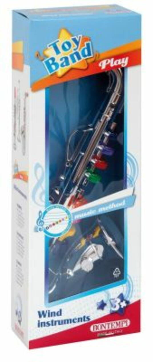 Toy Band Play. Sassofono Cromato Grande a 8 Chiavi/Note Colorate. Bontempi (32 4331) - 4