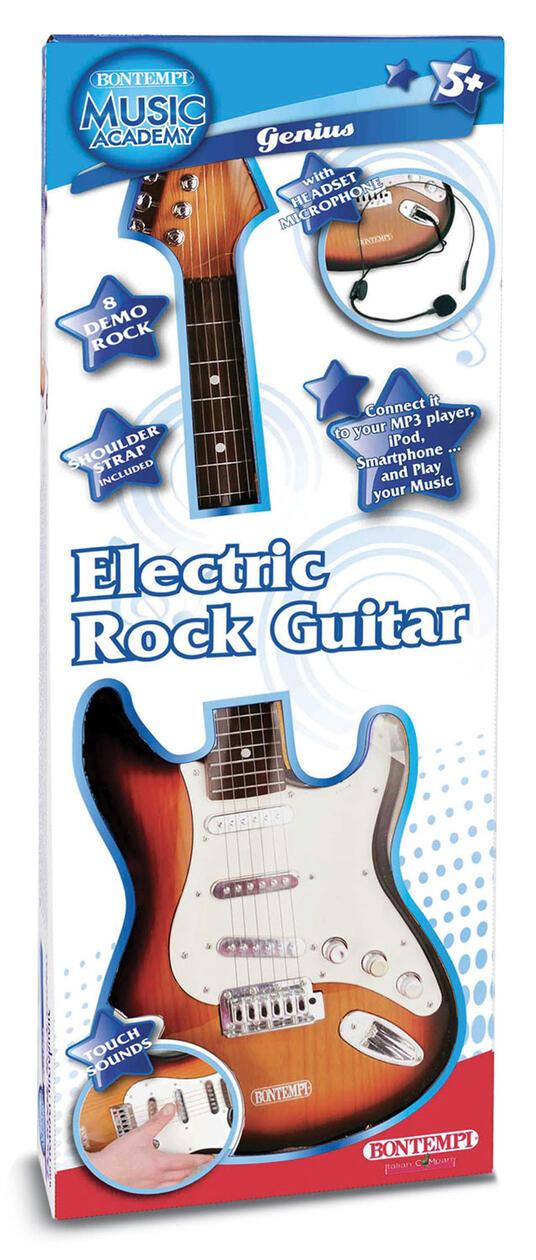 Toy Band Star. Chitarra Elettrica con Tracolla e Microfono. Bontempi (24 1310)