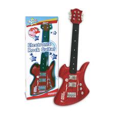 Chitarra Rock Elettrica 6 Corde di Metallo con Suoni Rock Al Tatto 8 Brani Preregistrati. Bontempi (24 4815)