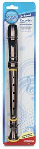 Bontempi 31 3621. Flauto Dolce Soprano Diteggiatura Barocca In Blister Colore Nero