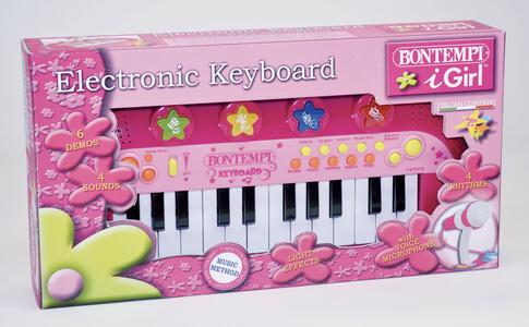 Tastiera Elettronica A 24 Tasti Con Microfono, 4 Pads,4 Suoni,4 Ritmi,6 Brani Preregistrati.
