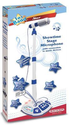 Microfono da Palcoscenico con 3 Effetti Musicali Asta Regolabile in Altezza. Bontempi (40 1042)