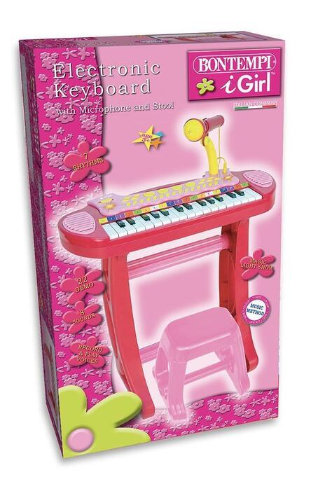 I Girl. Tastiera Elettronica a 31 Tasti con Microfono e Sgabello. Bontempi (13 3671)