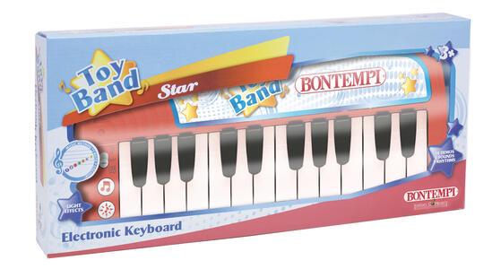 Bontempi 12 2412. Toy Band Star. Tastiera Elettronica Da Tavolo A 24 Tasti 3 Suoni 3 Ritmi 14 Brani Preregistrati. - 2