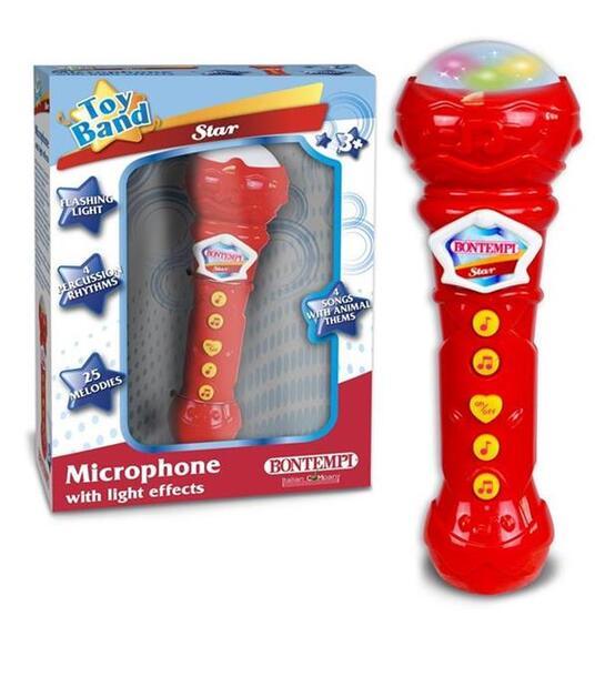 Bontempi Microfono Giocattolo Karaoke con Effetti Luminosi Microfono Bambini - 2