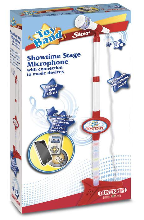 Microfono da Palcoscenico o da Tavolo Asta Regolabile in Altezza Connessione a Dispositivi Esterni. Bontempi (40 1120)