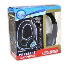 Cuffia Wireless con Luci Led Regolazione Volume Bluetooth Microfono Integrato Colore Nero. Bontempi (48 3001)