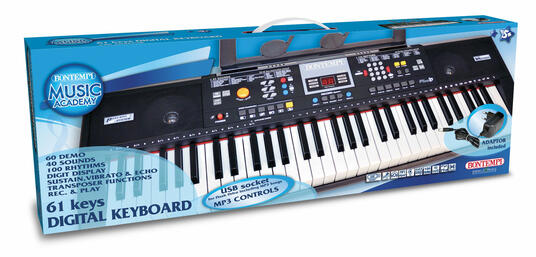 Tastiera 61 Tasti. 40 Suoni. Polifonia 8 Note 100 Ritmi con Arranger e Gestione Facilitata Degli Accordi. Bontempi (16 6115) - 2