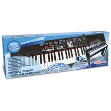 Piano Digitale 61 Tasti A Passo Professionale, 128 Suoni,30 Canzoni Preregistrate, 8 Pads Per Suonare Strumenti Ritmici