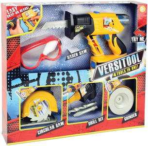 Giocattolo Attrezzi Lavoro 4in1+Occhiali Lanard Toys 0