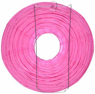 Lanterne Tonde In Carta Rosa 24 Cm - 2