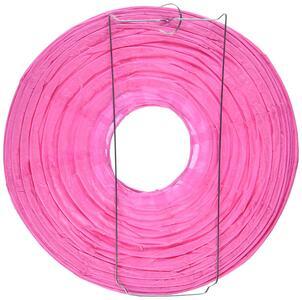 Lanterne Tonde In Carta Rosa 24 Cm - 5