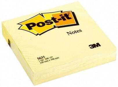 Cartoleria 3M Post-it. 200 Foglietti Post-it Colore Giallo Canary 100x100mm Post-it