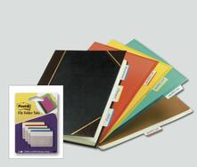 3M Post-it. 4 Pack Appendibili da 6 Segnapagine Bianchi per Archivio con Bordo Colorato
