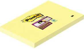 Cartoleria 3M Post-it. Foglietti Super Sticky Colore Giallo Canary (Confezione Da 12 Blocchetti Con Film Singolo Da 90 Fogli) 127x76 mm Post-it