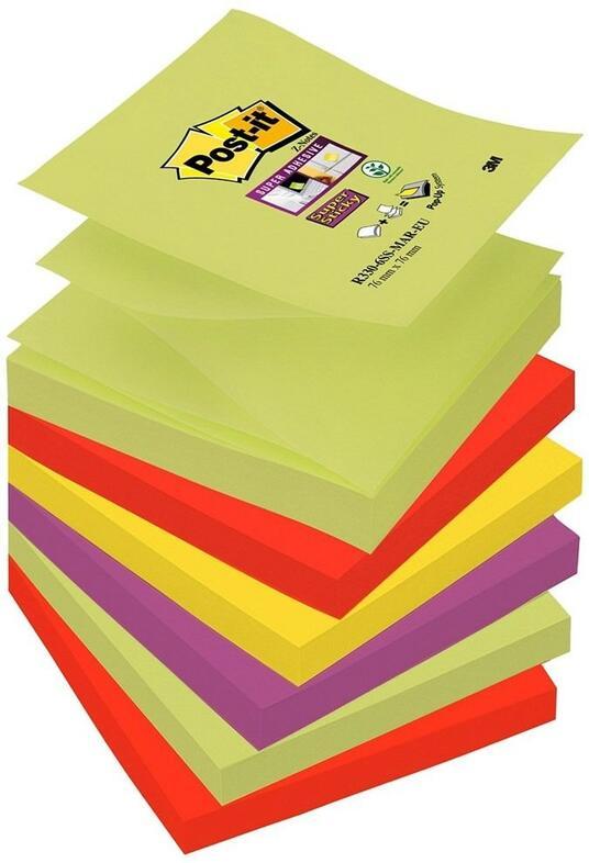 3M Post-it. Foglietti Per Dispenser Super Sticky Z-notes Colori Marrakesh