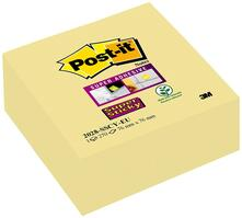 3M Post-it. Cubo 350 Foglietti Post-it. Super Sticky Colore Giallo Canary 76x76mm