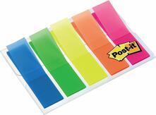 3M Post-it. 100 Segnapagina Mini in 5 Colori Fluo