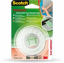 3M Post-it. Nastro Scotch Biadesivo Forte 19mmx1,5m