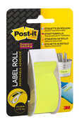 Cartoleria Etichette riposizionabili Post-it Super Sticky in rotolo, colore verde 17,7m Post-it