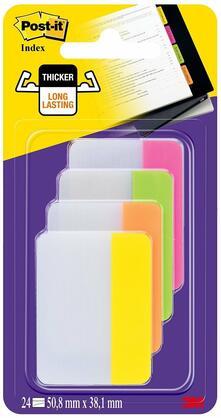 3M Post-it. 4 Pack Appendibili da 6 Segnapagine per Archivio Colori Brillanti