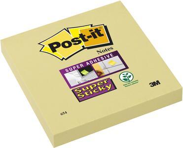 3M Post-it. 12 Blocchetti Super Sticky colore giallo 76x76 mm