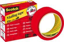 Rotolo Di Nastro Adesivo Secure Tape Rosso. 6pz