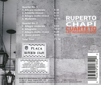 Quartetti per Archi N.1, N.2 - CD Audio di Ruperto Chapí - 2