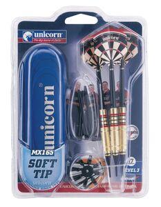 Giocattolo Set 3 freccette con punta in plastica Unicorn