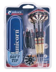 Giocattolo Set 3 freccette con punta in plastica Unicorn 0