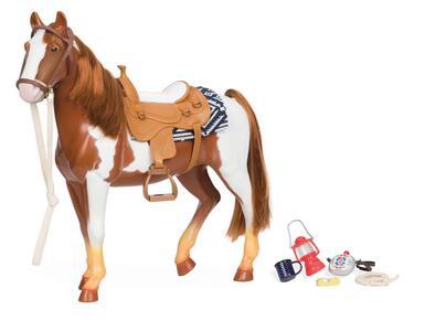 OG Dolls BD38017Z. Cavalli Trail Riding Horse. Cavallo Pezzato