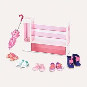 Our Generation Bd37314Z. Shoes Set. Scarpiera Con Scarpe